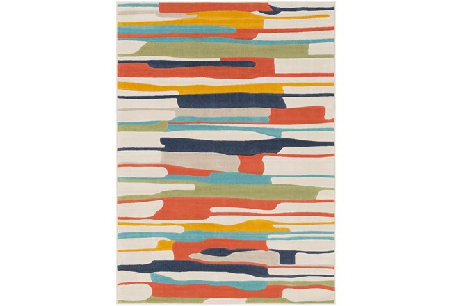 63X87 Rug-Colorful Paint Drips Multicolor - 360