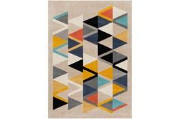 63X87 Rug-Colorful Triangles Multicolor
