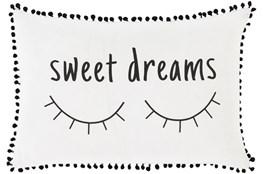 Accent Pillow-Sweet Dreams White/Black 12X18