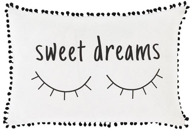 Accent Pillow-Sweet Dreams White/Black 12X18 - 360