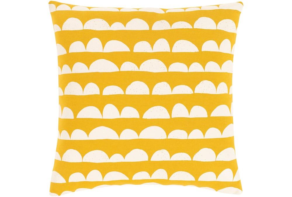 Accent Pillow-Scallops Yellow 18X18