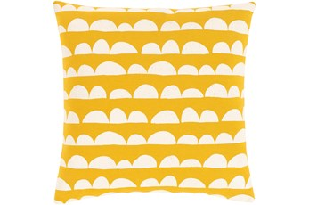 Accent Pillow-Scallops Yellow 18X18