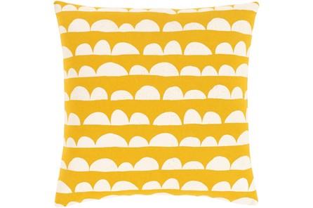 Accent Pillow-Scallops Yellow 18X18 - Main