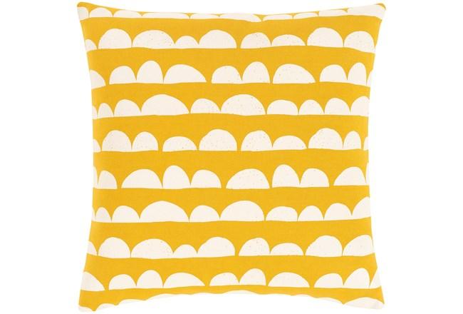 Accent Pillow-Scallops Yellow 18X18 - 360