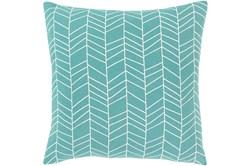 Accent Pillow-Chevron Aqua 18X18