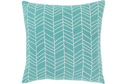 Accent Pillow-Chevron Aqua 18X18