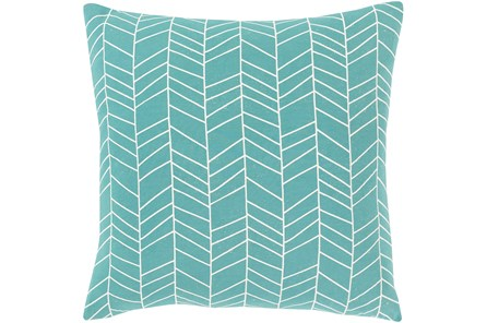 Accent Pillow-Chevron Aqua 18X18 - Main