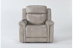 Serena Taupe Power Recliner With Power Headrest,Heat & Massage