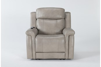 Serena Taupe Power Recliner With Power Headrest,Heat & Massage
