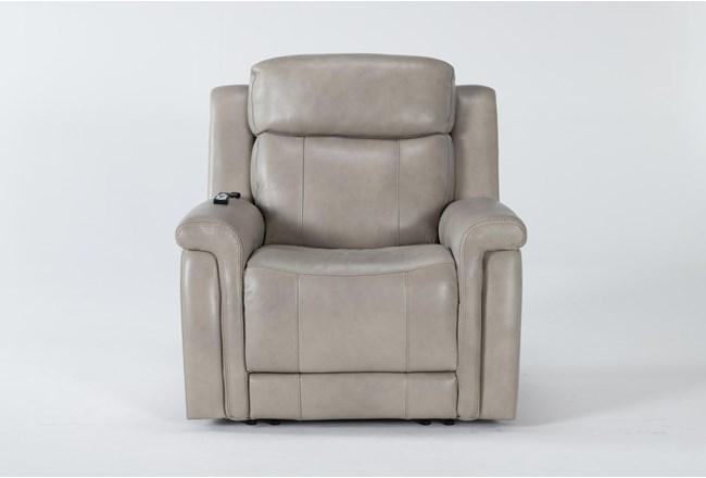 Serena Taupe Power Recliner With Power Headrest,Heat & Massage - 360