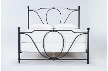 Gracie California King Metal Panel Bed