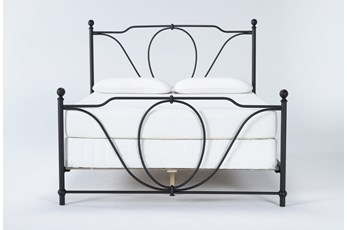 Gracie Eastern King Metal Panel Bed