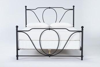Gracie Eastern King Metal Panel Bed