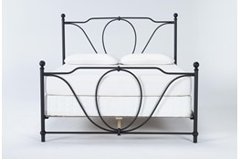Gracie Queen Metal Panel Bed