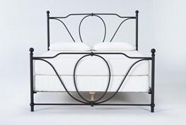 Gracie Queen Metal Panel Bed