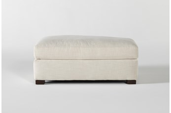 Magnolia Home Walden Homespun Cream Ottoman By Joanna Gaines