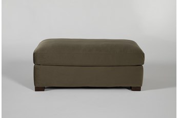Magnolia Home Walden Luxe Moss Ottoman By Joanna Gaines