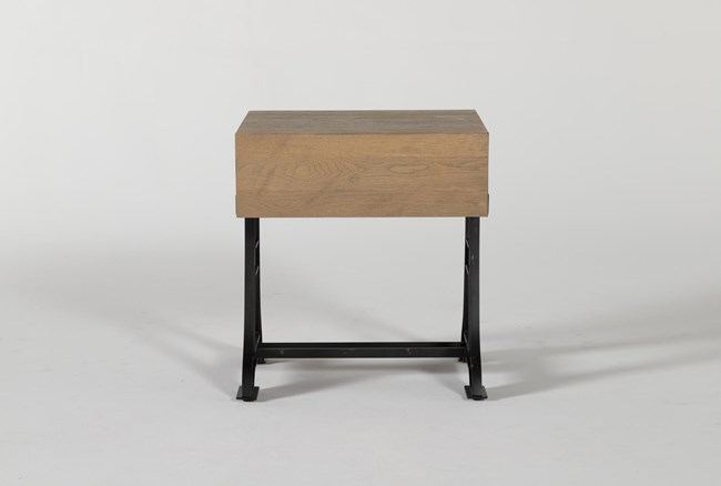 Magnolia Home Foundry End Table By Joanna Gaines - 360
