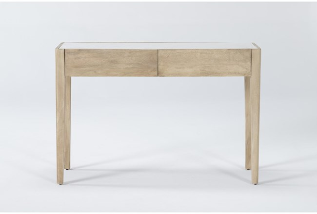 """Magnolia Home Pembrook Marble 16"""" Console Table By Joanna Gaines - 360"""