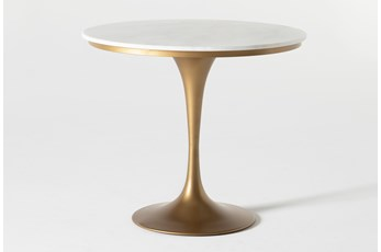 Wendy White Marble Round Dining Table