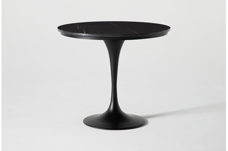 Wendy Black Marble Round Dining Table