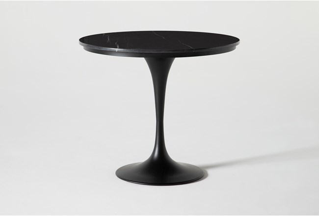 Wendy Black Marble Round Dining Table - 360
