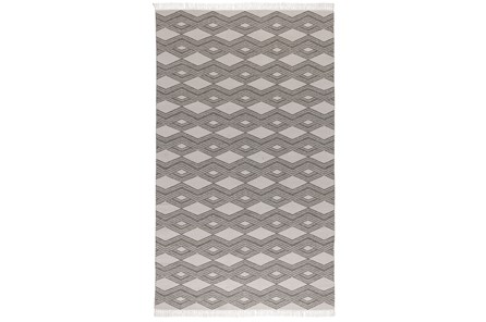 96X120 Outdoor Rug-Pebble Diamonds With Fringe