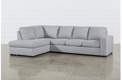 "Lucy Grey 2 Piece Sleeper 114"" Sectional With Left Arm Facing Chaise"