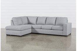 """Lucy Grey 2 Piece Sleeper 114"""" Sectional With Left Arm Facing Chaise"""