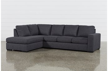 Lucy Dark Grey 2 Piece Sleeper Sectional With Left Arm Facing Chaise