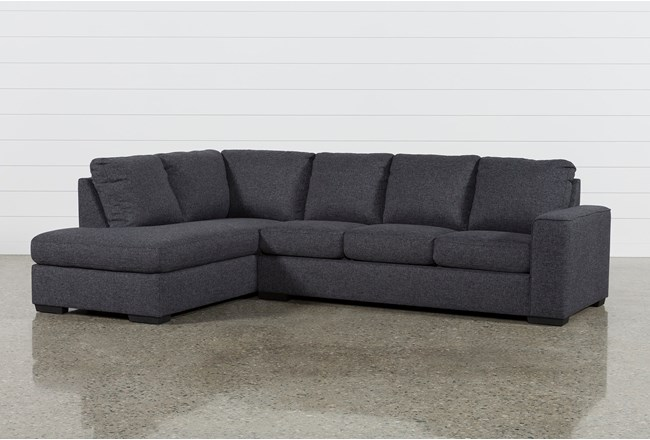 Lucy Dark Grey 2 Piece Sleeper Sectional With Left Arm Facing Chaise - 360