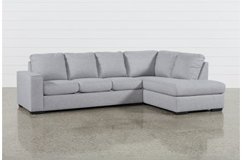 Lucy Grey 2 Piece Sleeper Sectional With Right Arm Facing Chaise