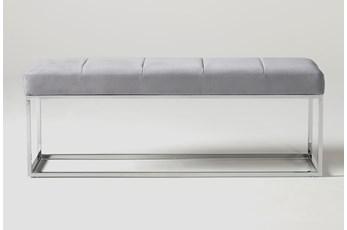 Topanga Velvet Bench