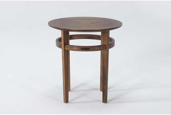 Magnolia Home Miller Walnut End Table By Joanna Gaines - 360