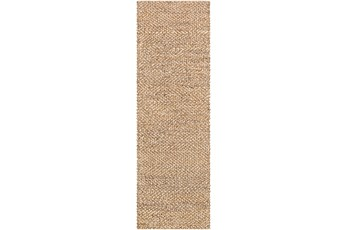 30X96 Rug-Contemporary Jute Natural