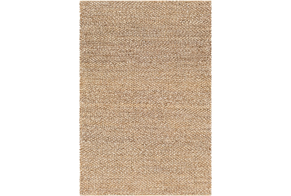 96X120 Rug-Contemporary Jute Natural