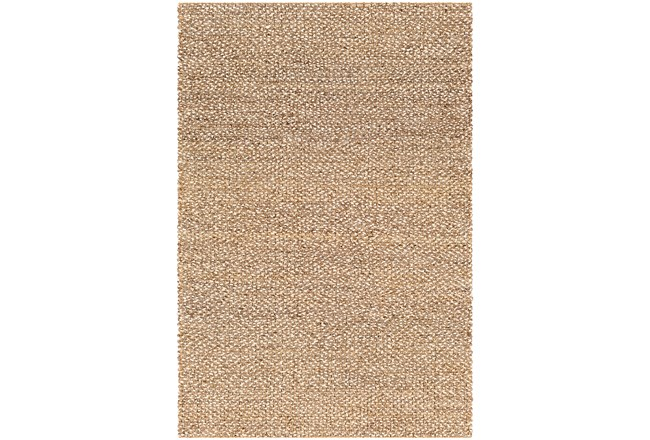 96X120 Rug-Contemporary Jute Natural - 360