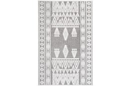 """2'x2'9"""" Rug-Global Inspired Chenille-Cotton Grey/Ivory"""