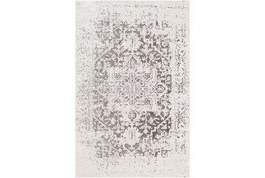 """2'x2'9"""" Rug-Global Inspired Chenille-Cotton Grey/Silver"""