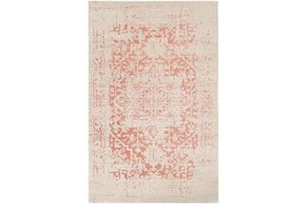 24X35 Rug-Global Inspired Chenille-Cotton Rose/Khaki