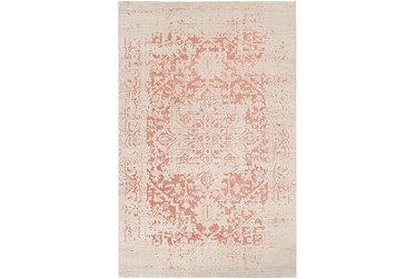 """2'x2'9"""" Rug-Global Inspired Chenille-Cotton Rose/Khaki"""