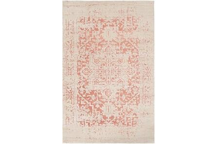79X108 Rug-Global Inspired Chenille-Cotton Rose/Khaki