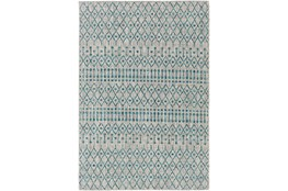 63X91 Rug-Bohemian Easy Care Aqua/Grey