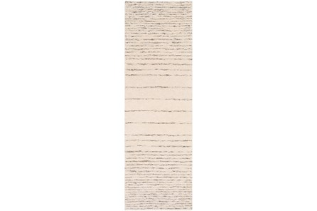 30X96 Rug-Viscose And Wool Modern Brown/Cream