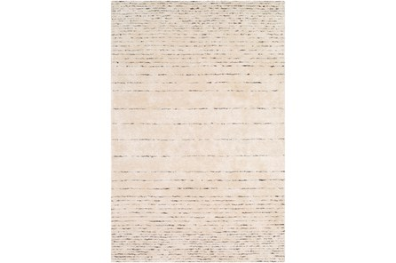 48X72 Rug-Viscose And Wool Modern Brown/Cream