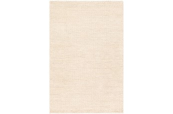 24X36 Rug-Polyester And Wool Woven Cream