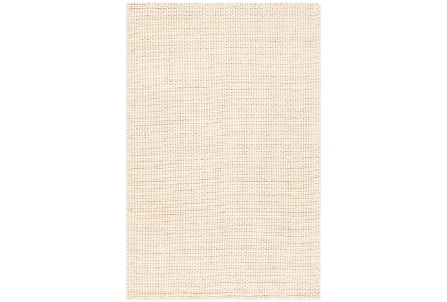 24X36 Rug-Polyester And Wool Woven Cream - 360