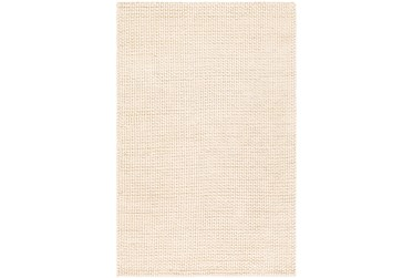 """5'x7'5"""" Rug-Polyester And Wool Woven Cream"""