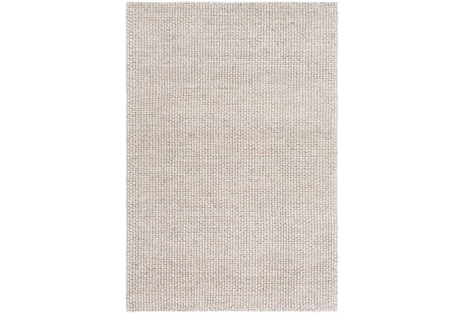 24X36 Rug-Polyester And Wool Woven Ivory - 360