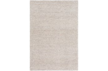 96X120 Rug-Polyester And Wool Woven Ivory